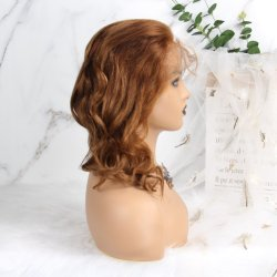 妖精の切口のかつらの人間の毛髪の不足分の正面巻き毛の前に摘み取られた漂白された結び目のかつらのボブのかつらのレースの前部人間の毛髪のかつら13X4のレース