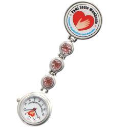 Het modieuze Bestand Water van het Horloge van de Verpleegster van het Kwarts van het Metaal