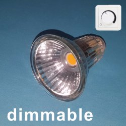 PANNOCCHIA 5W di vetro LED Spotlamp MR16 di Dimmable con il riflettore