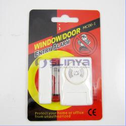 Sistema de seguridad magnético Mini Sensor de alarma de puerta de entrada de la ventana de alarma (MC06-1)
