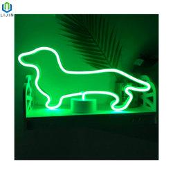 Little Dog conduit au néon de lumière pour la décoration de table