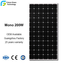 الجملة 200W الطاقة الشمسية الطاقة المتجددة خلية الخلية وحدة المصنع الكهروضوئية