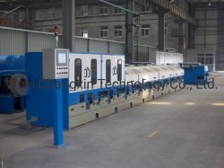 High/MID/kohlenstoffarme Kupfer-und Kabel-Stahldraht-kontinuierliche Gerade trockener Typ Drahtziehen-Maschine