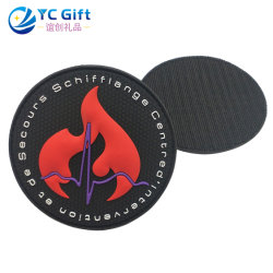 Groothandel Custom 3d Logo Kleding Woven Pvc Rubber Badge Emblem Fabric Trimming Neck Military Army Flag School Textile Police Patch Garment In China (Pt13-C)