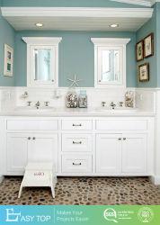 Горячая Продажа антиквариата дизайн современных ПВХ/лака в ванной комнате ванна туалетный столик с зеркалом