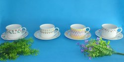 Farbenfroher, individuell Bedruckter Porzellan-Kaffee-Cup und Untertasse Aus China Factory