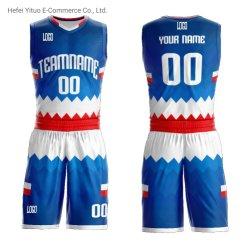 Impression en sublimation de gros de la conception unique OEM col V Maillots de basket-ball Vêtement