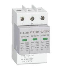 Eku4 tipo DC Imax: 20ka 2P 3p 1000VDC DOCUP pára-Protector com marcação Approvaldc