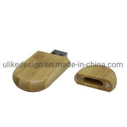 شعار محفور من الخشب محرك أقراص USB محمول خشبي سعة 2 جيجابايت/4 جيجابايت/8 جيجابايت خشب الخيزران فلاش USB للقرص F (UL-W011)