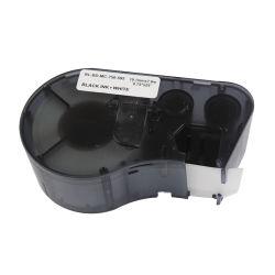 Hochwertiger Kennsatz für Brady Mc-750-595-Wt-Bk 19.1mm 7.6m Schwarzes auf weißem Vinylstreifenschreiber-Farbband