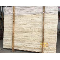 Mattonelle beige turche del travertino per le mattonelle di marmo del pavimento e della parete per la stanza da bagno nella casa/hotel