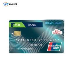PVC 고공률 2750 OE Hi Co 자기 띠 PVC Pet ATM 은행 카드 연락처 유형(칩 포함