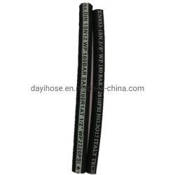 Tubo flessibile idraulico di gomma ad alta pressione della treccia del collegare per olio R1/1sn