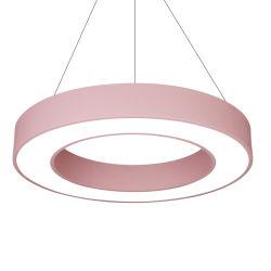 Candelabro Circular suspendida nueva ronda de la iluminación de la Oficina de la luz de la línea de colgantes hueco