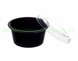 Cup des Teil-2oz mit Kappe, Auflauf-Cup mit Kappe, Soße-Cup mit Kappen-Plastikprodukten