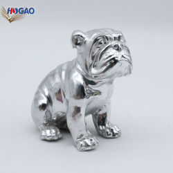 Haute qualité de la résine Polyresin Animal Figurines Silver Dog