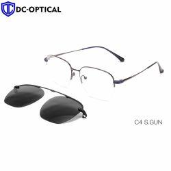 Clipper les lunettes de soleil chaud de la conception la plus récente OEM Custom Logo cercle rétro métallique rond des lunettes de soleil