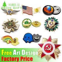 Бесплатные образцы , втулку эмблемы Кувейт пустой шприц логотип закрывается ОАЭ Rainbow Personalizado Custom сделать эмаль 3D-экспериментальных крылья металлический Значок Maker