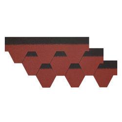 Ficha 3 Harbour mosaico Mosaico de asfalto culebrilla techos hexagonal con certificación de Ce asfalto culebrilla