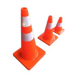 Оптовая торговля 70см ПВХ светоотражающие Оранжевый трафик конус для безопасности дорожного движения