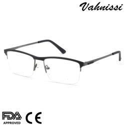 Grossisti Design metà acciaio inox uomo occhiali ottici profilati