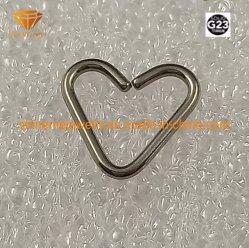 De Doordringende Driehoek Tp1965 van het Lichaam van het Titanium van de Juwelen van het Lichaam van het titanium G23
