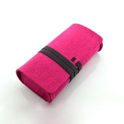 Fashion Promotion feutre de polyester d'Accessoires Lunettes de soleil cas de pliage (FM042)