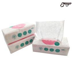 100%COTON Spunlace tissu non tissé Tissu sec des lingettes de papier pour la vie quotidienne