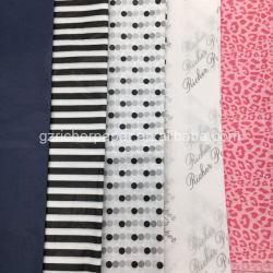 17g Blanc et coloré fleur imprimé décoratif du papier de soie d'enrubannage