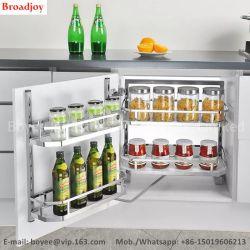 Alto nivel de rack Almacenamiento de Acero Inoxidable Aluminio Cesta Cristal Armario de Cocina