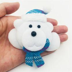 Ours blanc de Noël de mode lumière jusqu'épinglette LED clignotante