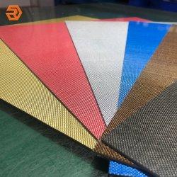 Feuille de fibre de carbone de couleur pour la fabrication de poignées de couteau
