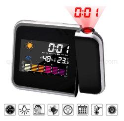 LED OEM electrónico digital multifuncional de la Previsión del tiempo reloj de proyección