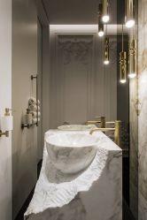 O Onyx chinês/em mármore/Granito Pedra Natural lado entalhado forma redonda Bacia Banho/Sinks/Lavatório