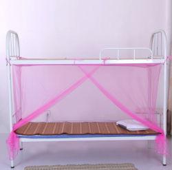 Barato retangular de pendurar portátil cama de solteiro rede mosquiteira