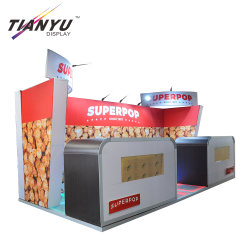 Feria de Exposiciones de productos de Rápido montaje de stand Expositor stand de exhibición portátil Feria Mostrar 10X10
