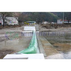 空気または水満ちるゴム製ダム