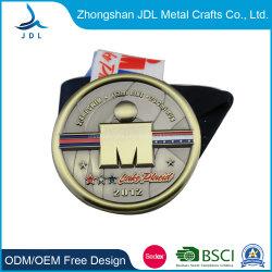 OEM van de fabriek de Directe Goedkope In het groot Medaille van het Medaillon van de Sport van het Lint van het Embleem van het Ontwerp van de Toekenning van het Email van de Douane Zachte 3D (282)