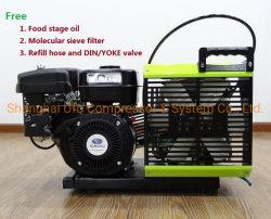 220V 440V 225/300bar 30MPa Portable Buceo Compresor de Aire de Respiración