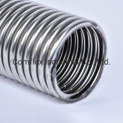 Acero inoxidable trenzado único mangueras o tuberías de metal flexible con el racor