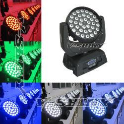 15W x 36PCS Rgbwauv 6in1 LEDの洗浄移動ヘッドライト