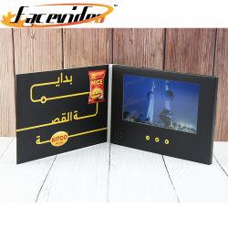 Commerce de gros de contrôle magnétique personnalisée Carte de voeux l'écran LCD 7 pouces livret numérique portable Bande Vidéo Brochure