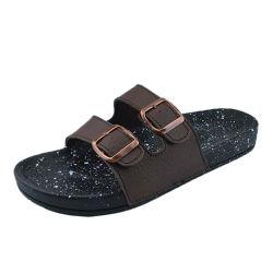 2020 novos homens Almugue slides personalizados com logotipo, PU Mens sandálias de couro, de couro sandálias homens Casual