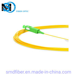 0.9/2.0/3.0mm 케이블 PVC 싱글모드 Sc/APC 광섬유 떠꺼머리