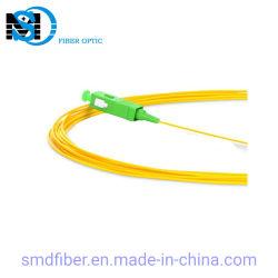 Treccia ottica monomodale della fibra 1m del cavo PVC/LSZH Sc/APC di 0.9/2.0/3.0mm