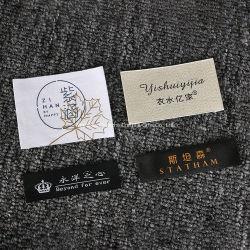 Contrassegni su ordinazione dei vestiti di stampa tessuti abitudine del contrassegno di cura della lavata del contrassegno