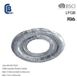 Раунда алюминиевую фольгу электрической плитой горелки охватывает Bib гильзы цилиндра