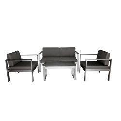 Fabriqué en Chine les meubles de patio extérieur Siège de l'amour Le bois plastique Table et chaise canapé