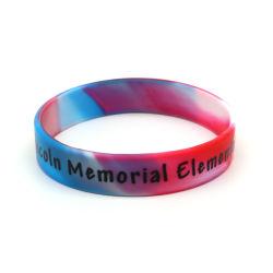 Della fabbrica braccialetto 2019 del silicone della stampa di vendita direttamente/Wristband su ordinazione/elastico per il regalo di promozione di natale