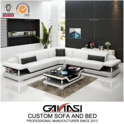 Elegante cuero de vaca Superior de gama alta de sofá en forma de L G8004b